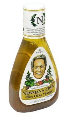 Christopher's Favorites ☞ Newman's Own Salad Dressing, Olive Oil & Vinegar